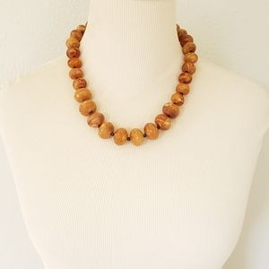 Vintage Avon Marbled Butterscotch Lucite Necklace